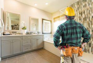 Contractor Facing Completed Custom Master Bathroom